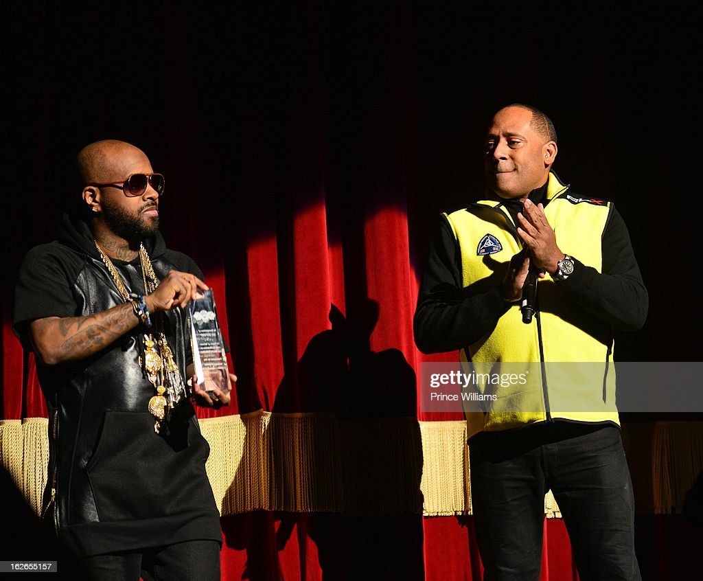 Jermain Dupri and Frank Ski attend the So So Def 20th anniversary concert at the Fox Theater on February 23, 2013 in Atlanta, Georgia.