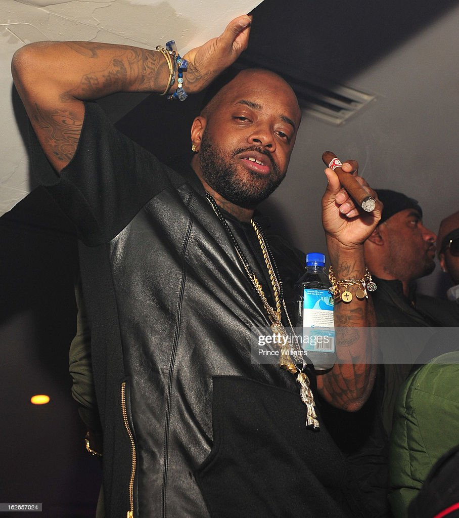 Jermain Dupri attends the So So Def anniversary party hosted by Jay Z at Compound on February 23, 2013 in Atlanta, Georgia.