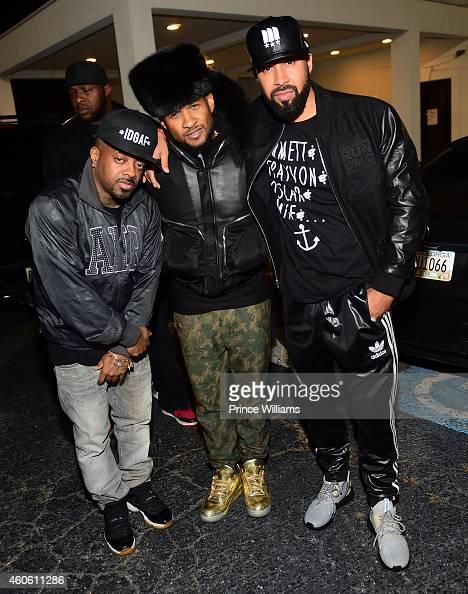 Jermain Dupri Usher and Kenny Burns attend Diamonds of Atlanta on December 9 2014 in Atlanta Georgia