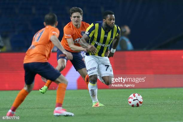 Jermain Lens of Fenerbahce in action during the Ziraat Turkish Cup semi final soccer match between Medipol Basaksehir and Fenerbahce at the...