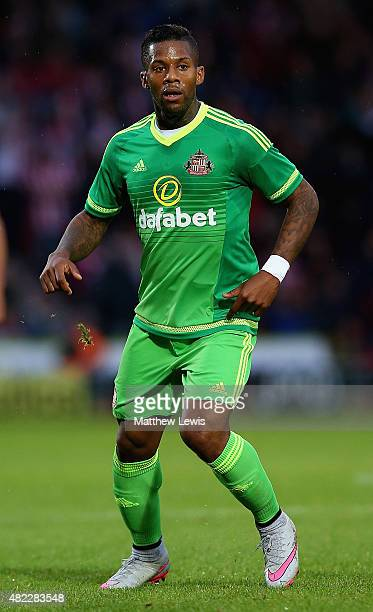 Jermain Lens of Sunderland in action during the pre Season Friendly match between Doncaster Rovers and Sunderland at Keepmoat Stadium on July 29 2015...