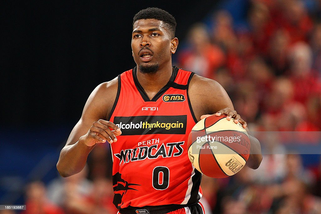 Jermaine Beal of the Wildcats brings the ball up the court during the round two NBL match between the Perth Wildcats and the Sydney Kings at Perth Arena in October 18, 2013 in Perth, Australia.