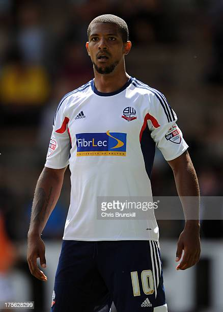 Jermaine Beckford of Bolton Wanderers looks on during the Sky Bet Championship match between Burnley and Bolton Wanderers at Turf Moor on August 03...