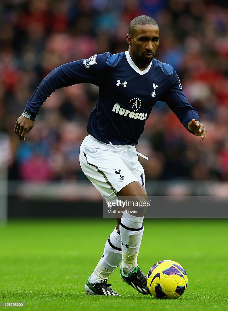 Jermaine Defo of Tottenham Hotspur in action during the Barclays Premier League match between Sunderland and Tottenham Hotspur at Stadium of Light on December 29, 2012 in Sunderland, England.
