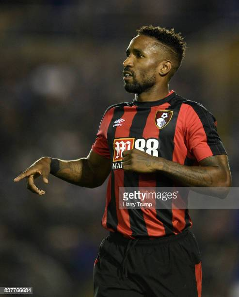 Jermaine Defoe of Bournemouth during the Carabao Cup Second Round match between Birmingham City and AFC Bournemouth at St Andrews Stadium on August...