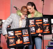 Jermaine Dupri and Alicia Keys during ASCAP 18th Annual Rhythm Soul Music Awards Show at Beverly Hilton Hotel in Beverly Hills California United...