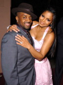 Jermaine Dupri and Janet Jackson during Clive Davis' 2005 PreGRAMMY Awards Party Arrivals at Beverly Hills Hotel in Beverly Hills California United...