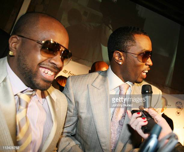 Jermaine Dupri and Sean P Diddy Combs during The 49th Annual GRAMMY Awards Jermaine Dupri's Atlanta Invasion 2007 Pre Grammy Celebration Inside at...