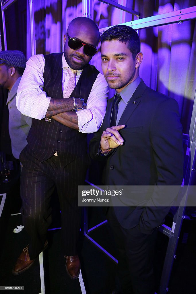 Jermaine Dupri and Wilmer Valderrama attend the 2013 BET Networks Inaugural Gala at Smithsonian National Museum Of American History on January 21, 2013 in Washington, United States.