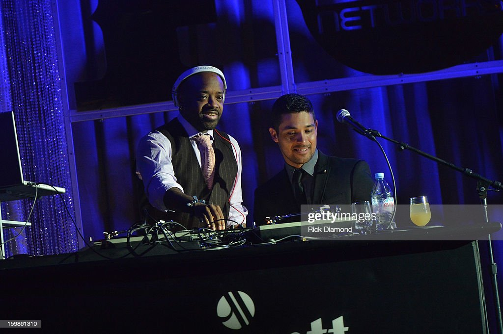 <a gi-track='captionPersonalityLinkClicked' href=/galleries/search?phrase=Jermaine+Dupri&family=editorial&specificpeople=201712 ng-click='$event.stopPropagation()'>Jermaine Dupri</a> and <a gi-track='captionPersonalityLinkClicked' href=/galleries/search?phrase=Wilmer+Valderrama&family=editorial&specificpeople=202028 ng-click='$event.stopPropagation()'>Wilmer Valderrama</a> onstage at the Inaugural Ball hosted by BET Networks at Smithsonian American Art Museum & National Portrait Gallery on January 21, 2013 in Washington, DC.
