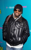 Jermaine Dupri arrives to the celebrity launch of the TMobile myFaves Shot of a Lifetime sweepstakes during NBA AllStar Weekend in Scottsdale AZ on...
