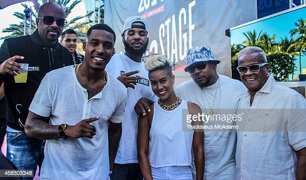 Jermaine Dupri DJ Damage The Game Sib Vicious Timbaland and George Daniels attend Revolt Music Conference at Fontainebleau Miami Beach on October 17...