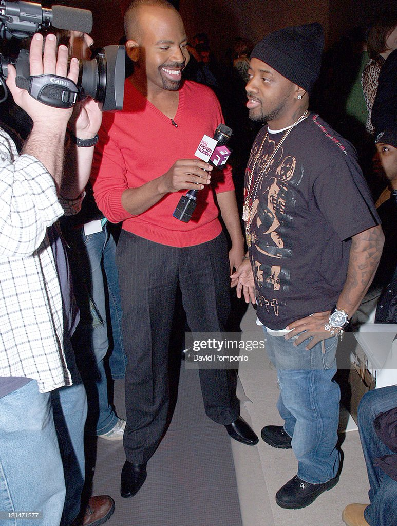 Jermaine Dupri during Olympus Fashion Week Fall 2005 - Joseph Abboud - Front Row and Backstage at Bryant Park in New York City, New York, United States.