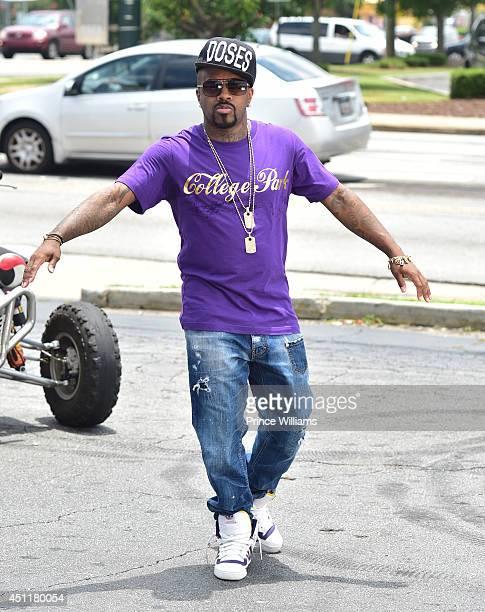 Jermaine Dupri on the set of the 'Gah Damn' music video shoot on June 24 2014 in Atlanta Georgia