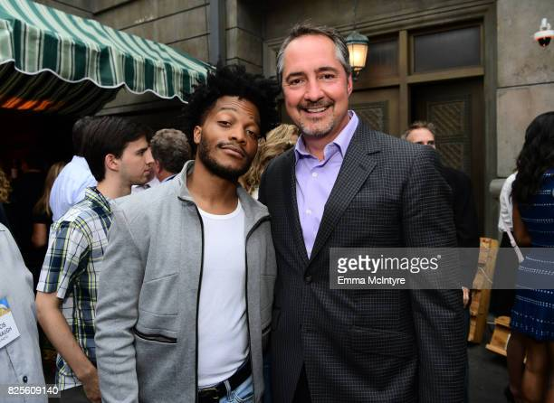 Jermaine Fowler and CBS Senior Executive Vice President of Programming Thom Sherman attend the 2017 Summer TCA Tour CBS Television Studios' Summer...