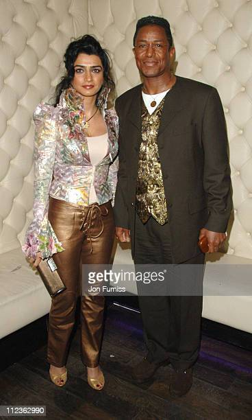 Jermaine Jackson and Halima Rashid during 'Wild Hogs' London Premiere After Party at Paper and Glass in London Great Britain