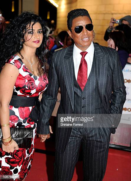 Jermaine Jackson and his wife Halima Rashid arrive at MOBO Awards 2010 at Echo Arena on October 20 2010 in Liverpool England