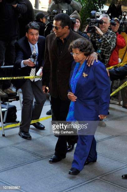 Jermaine Jackson and Katherine Jackson arrive for the preliminary hearing for Dr Conrad Murray on January 4 2011 in Los Angeles California Dr Murray...