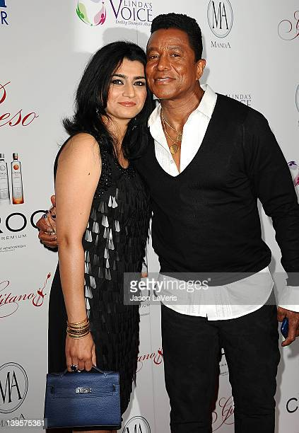 Jermaine Jackson and wife Halima Rashid attend Eva Longoria's PreOscar Flamenco Party at Beso on February 22 2012 in Hollywood California