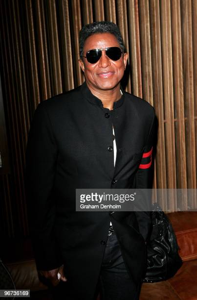 Jermaine Jackson attends a drinks reception to promote Arena's new TV show 'The Jacksons A Family Dynasty' at Tokonoma on February 16 2010 in Sydney...