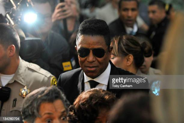 Jermaine Jackson leaves court after the sentencing of Dr Conrad Murray at the Los Angeles Superior Court on November 29 2011 in Los Angeles...