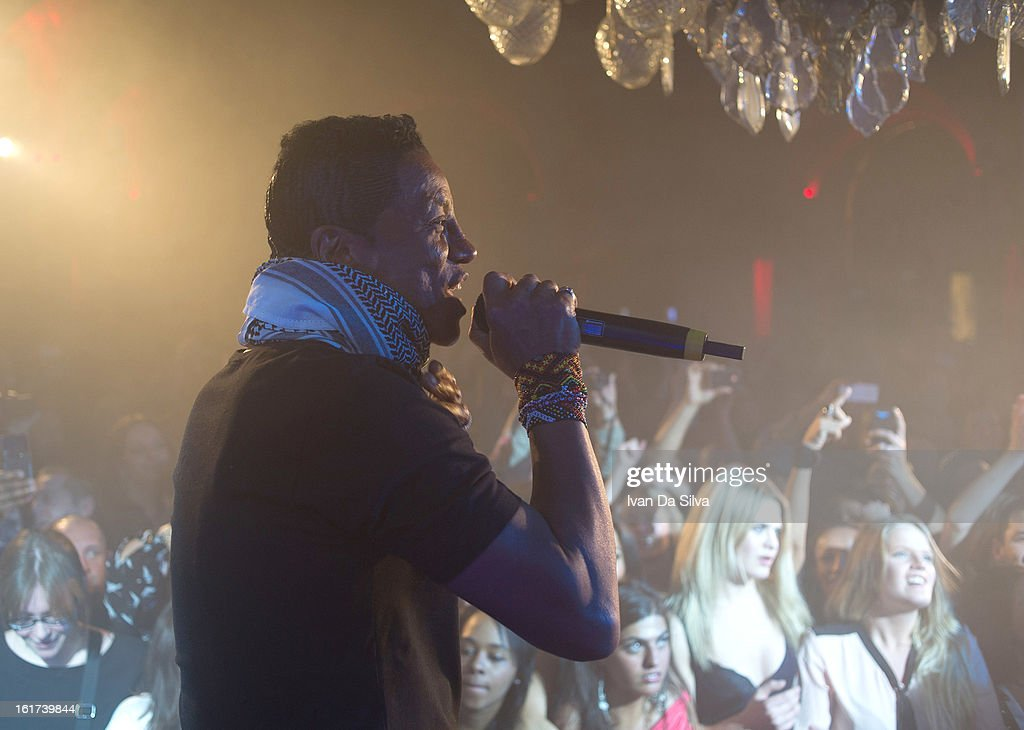 Jermaine Jackson of The Jacksons performs with Wyclef Jean at Cafe Opera on February 14, 2013 in Stockholm, Sweden.