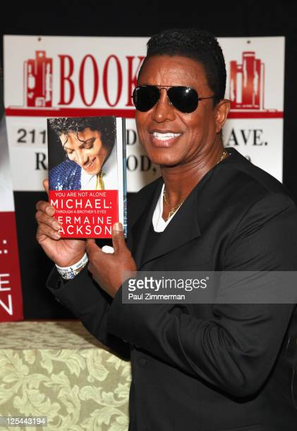 Jermaine Jackson promotes the new book 'You Are Not Alone Michael Through A Brother's Eyes' at Bookends Bookstore on September 17 2011 in Ridgewood...