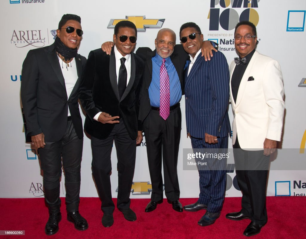 <a gi-track='captionPersonalityLinkClicked' href=/galleries/search?phrase=Jermaine+Jackson&family=editorial&specificpeople=204742 ng-click='$event.stopPropagation()'>Jermaine Jackson</a>, Randy Jackson, Berry Gordy, <a gi-track='captionPersonalityLinkClicked' href=/galleries/search?phrase=Tito+Jackson&family=editorial&specificpeople=216556 ng-click='$event.stopPropagation()'>Tito Jackson</a>, and <a gi-track='captionPersonalityLinkClicked' href=/galleries/search?phrase=Marlon+Jackson+-+Musician&family=editorial&specificpeople=914632 ng-click='$event.stopPropagation()'>Marlon Jackson</a> attend the 2013 EBONY Power 100 List Gala at Frederick P. Rose Hall, Jazz at Lincoln Center on November 4, 2013 in New York City.
