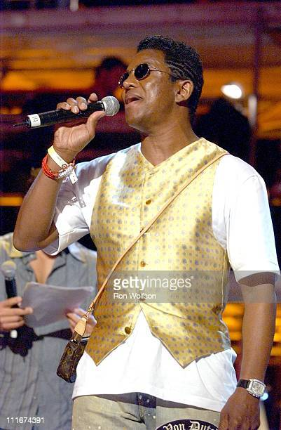 Jermaine Jackson rehearsing 'I'll Be There' during 'Motown 45' Anniversary Celebration Airing in May on ABC Rehearsals Day 1 at The Shrine Auditorium...