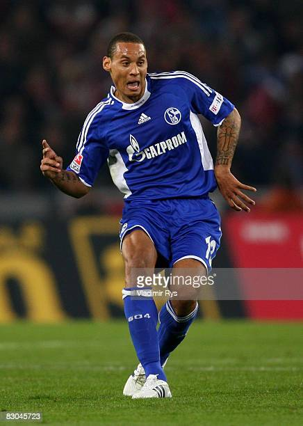 Jermaine Jones of Schalke passes the ball during the Bundesliga match between 1 FC Koeln and FC Schalke 04 at the RheinEnergie stadium on September...