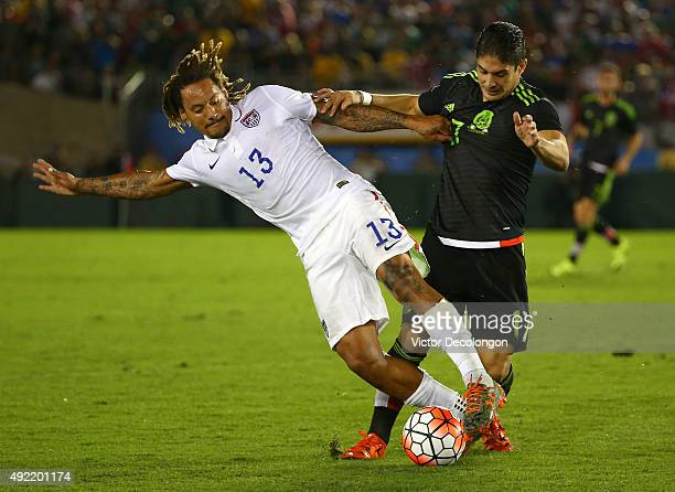 Jermaine Jones of the United States and Javier Guemez of Mexico vie fo the ball in the second half during the 2017 FIFA Confederations Cup Qualifying...