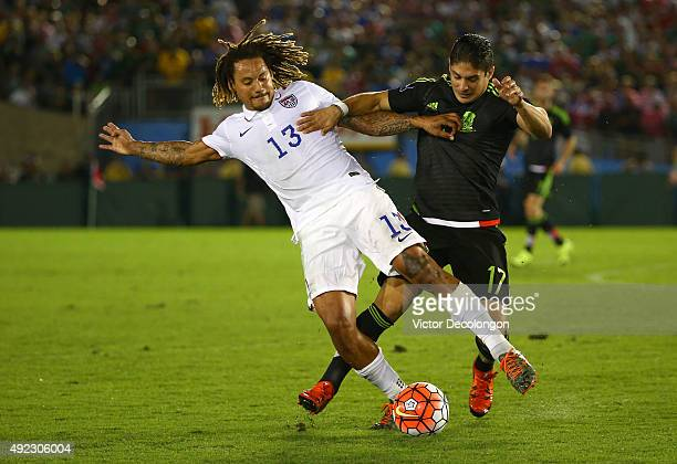 Jermaine Jones of the United States and Javier Guemez of Mexico vie for the ball in the second half during the 2017 FIFA Confederations Cup...