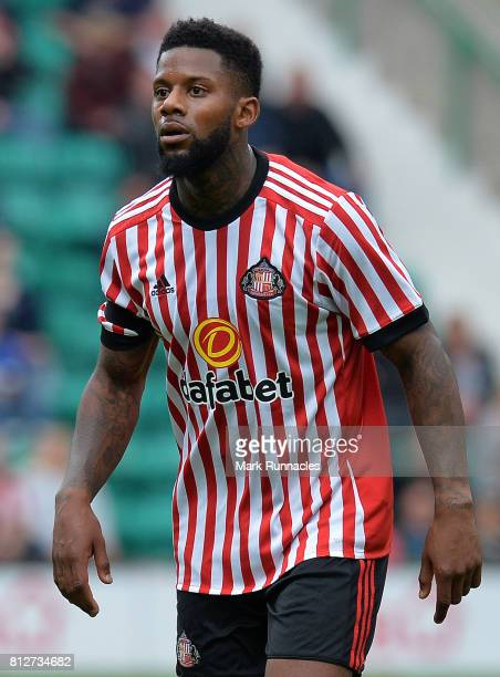 Jermaine Lens of Sunderland in action during the pre season friendly between Hibernian and Sunderland at Easter Road on July 9 2017 in Edinburgh...