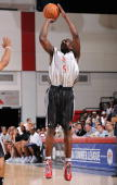 Jermaine Taylor of the Houston Rockets shoots against the Portland Trail Blazers during NBA Summer League presented by EA Sports on July 15 2009 at...