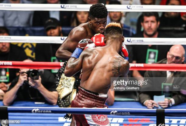 Jermell Charlo fights Erickson Lubin in their WBC Junior Middleweight Title bout at Barclays Center of Brooklyn on October 14 2017 in New York City