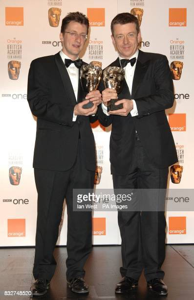 Jermey Brock and Peter Morgan with their Adapted Screenplay award for The Last King of Scotland award received at the 2007 Orange British Academy...