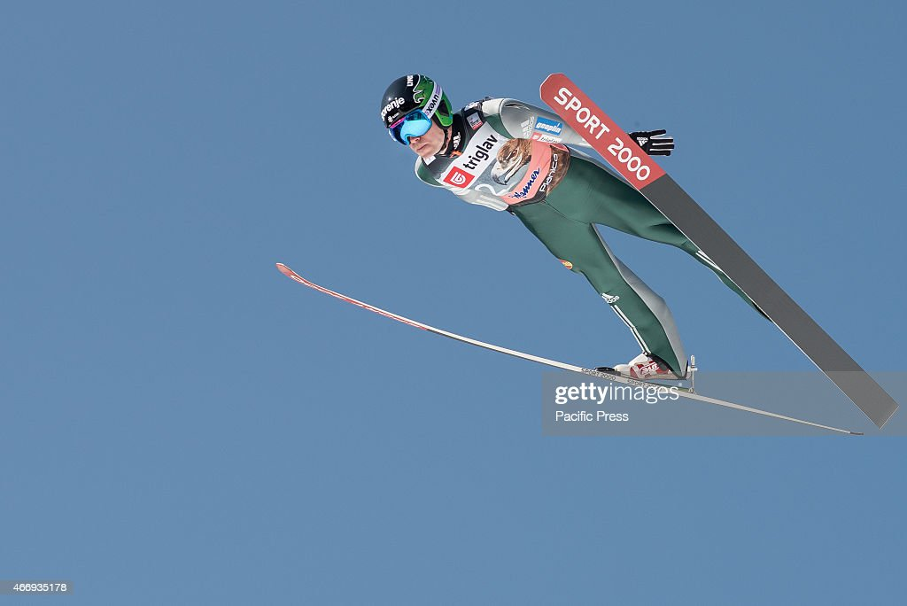 <a gi-track='captionPersonalityLinkClicked' href=/galleries/search?phrase=Jernej+Damjan&family=editorial&specificpeople=820554 ng-click='$event.stopPropagation()'>Jernej Damjan</a> of Slovenia competes during FIS World Cup Planica Flying Hill Individual Ski Jumping in Planica, Slovenia. Ski jumping is a form of nordic skiing in which athletes descend a take-off ramp, called an inrun, jump, and fly as far as possible. Points are awarded for distance and style.