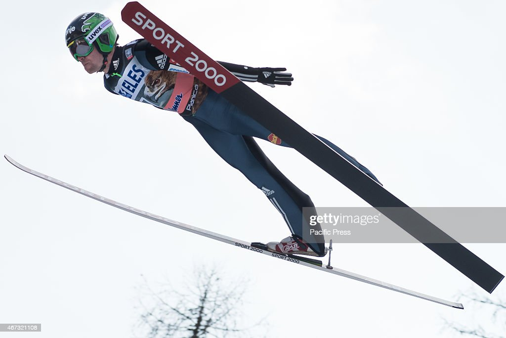 <a gi-track='captionPersonalityLinkClicked' href=/galleries/search?phrase=Jernej+Damjan&family=editorial&specificpeople=820554 ng-click='$event.stopPropagation()'>Jernej Damjan</a> of Slovenia competes during FIS World Cup Planica Flying Hill Individual Ski Jumping. Ski jumping is a form of nordic skiing in which athletes descend a take-off ramp, called an inrun, jump, and fly as far as possible. Points are awarded for distance and style.