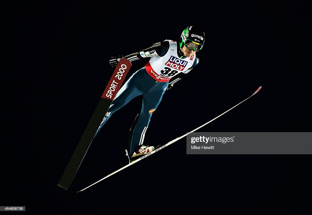 <a gi-track='captionPersonalityLinkClicked' href=/galleries/search?phrase=Jernej+Damjan&family=editorial&specificpeople=820554 ng-click='$event.stopPropagation()'>Jernej Damjan</a> of Slovenia competes during the Men's HS134 Large Hill Ski Jumping Final during the FIS Nordic World Ski Championships at the Lugnet venue on February 26, 2015 in Falun, Sweden.