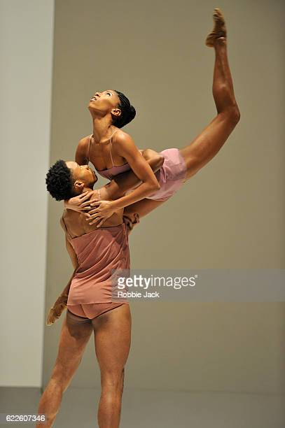 Jeroboam Bozeman and Jacqueline Green guest artists from the Alvin Ailey Dance Theatre in the Royal Ballet's production of Wayne McGregor's Chroma at...