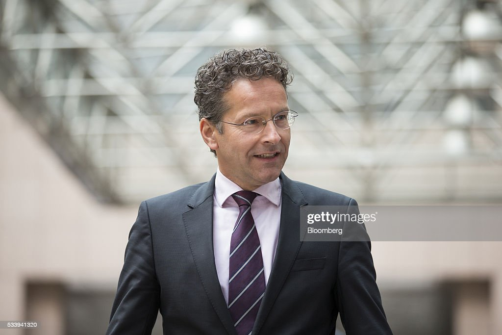 <a gi-track='captionPersonalityLinkClicked' href=/galleries/search?phrase=Jeroen+Dijsselbloem&family=editorial&specificpeople=9751962 ng-click='$event.stopPropagation()'>Jeroen Dijsselbloem</a>, Dutch finance minister and head of the group of euro-area finance ministers, arrives to give a statement prior to a Eurogroup meeting of European finance ministers in Brussels, Belgium, on Tuesday, May 24, 2016. Five years after handing Greece the biggest sovereign-debt write-off in history, European policy makers have come full circle to the point they had all hoped to avoid: a real discussion on debt relief. Photographer: Jasper Juinen/Bloomberg via Getty Images