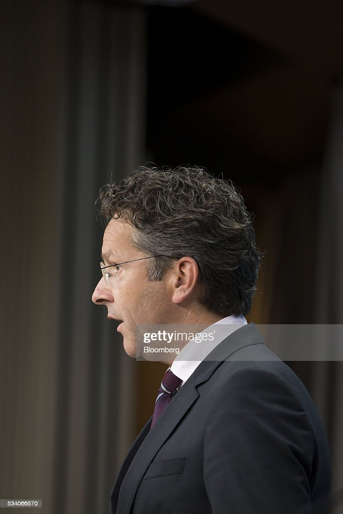 <a gi-track='captionPersonalityLinkClicked' href=/galleries/search?phrase=Jeroen+Dijsselbloem&family=editorial&specificpeople=9751962 ng-click='$event.stopPropagation()'>Jeroen Dijsselbloem</a>, Dutch finance minister and head of the group of euro-area finance ministers, speaks during a news conference following a Eurogroup meeting of European finance ministers in Brussels, Belgium, on Tuesday, May 24, 2016. Greece's creditors reached an agreement that will allow the release of 10.3 billion euros ($11.5 billion) of aid and committed to ease the nation's 321 billion euros of debt. Photographer: Jasper Juinen/Bloomberg via Getty Images