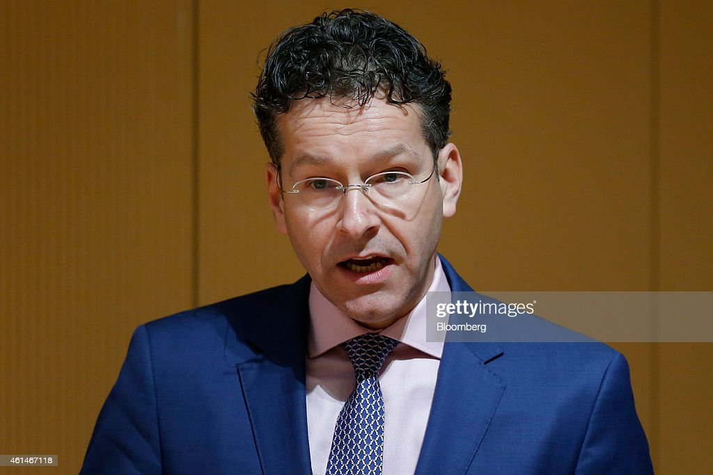 <a gi-track='captionPersonalityLinkClicked' href=/galleries/search?phrase=Jeroen+Dijsselbloem&family=editorial&specificpeople=9751962 ng-click='$event.stopPropagation()'>Jeroen Dijsselbloem</a>, Dutch finance minister and president of the Eurogroup, speaks during a lecture at Keio University in Tokyo, Japan, on Tuesday, Jan. 13, 2015. Europe needs structural reforms, similar to the the 'third arrow' policies in Japan of Prime Minister Shinzo Abe, Dijsselbloem said. Photographer: Kiyoshi Ota/Bloomberg via Getty Images