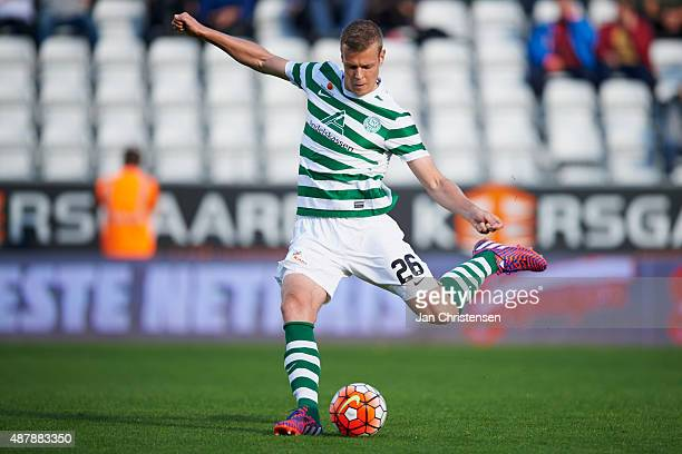Jeroen Veldmate of Viborg FF in action during the Danish Alka Superliga match between Viborg FF and FC Nordsjalland at Energi Viborg Arena on...