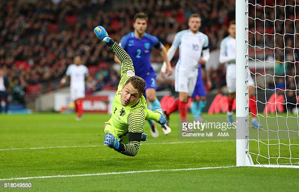 Jeroen Zoet of Netherlands during the international friendly between England and Netherlands at Wembley Stadium on March 29 2016 in London England