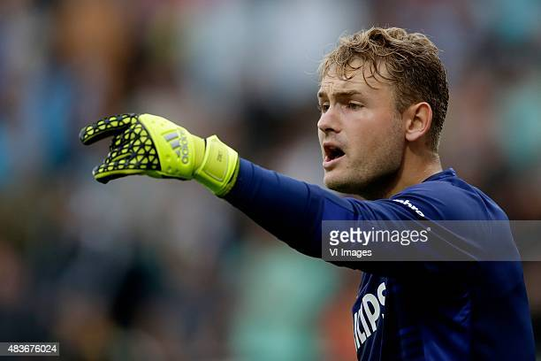 Jeroen Zoet of PSV during the Dutch Eredivisie match between ADO Den Haag and PSV Eindhoven at Kyocera stadium on August 11 2015 in The Hague The...