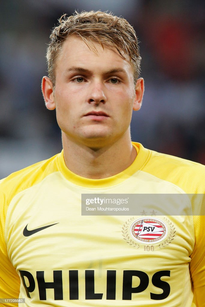 Jeroen Zoet of PSV looks on prior to the UEFA Champions League Play-off First Leg match between PSV Eindhoven and AC Milan at PSV Stadion on August 20, 2013 in Eindhoven, Netherlands.