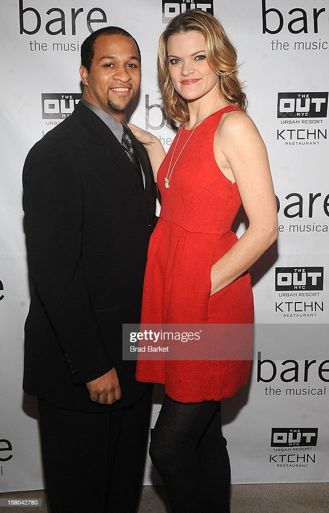 Jerold Solomon(L) and Missi Pyle attend 'BARE The Musical' Opening Night After Party at Out Hotel on December 9, 2012 in New York City.