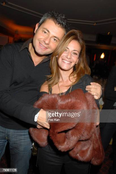 Jerome Anthony and Elsa Fayer attend the M6 Music Party at the Ritz Club on December 10 2007 in Paris France