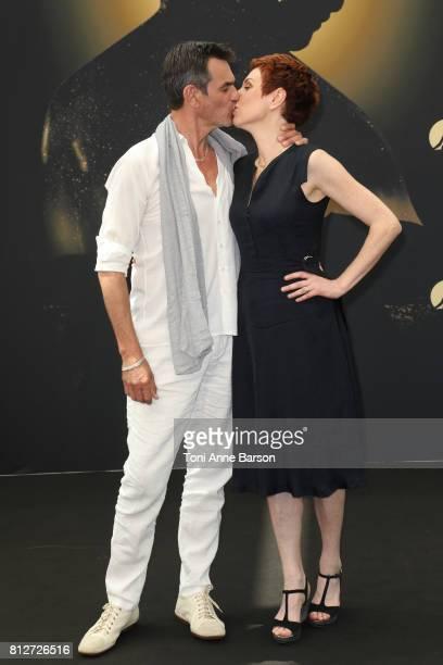 Jerome Bertin and Marie Reache attend 'Plus Belle La Vie' photocall on June 18 2017 at the Grimaldi Forum in MonteCarlo Monaco